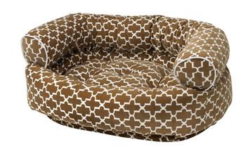Cedar Lattice Microvelvet Double Donut Pet Dog Bed