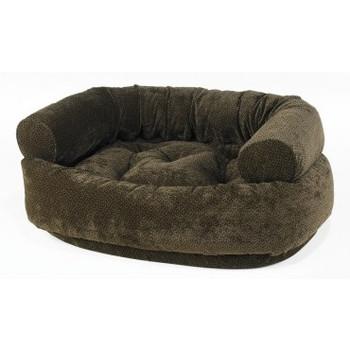 Chocolate Bones Microvelvet Double Donut Pet Dog Bed