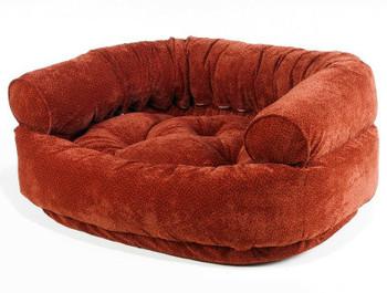 Cherry Bones Microvelvet Double Donut Pet Dog Bed