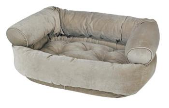 Thyme Microvelvet Double Donut Pet Dog Bed