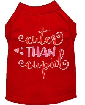 Cuter than Cupid Screen Print Dog Shirt / Tank - 6 Colors