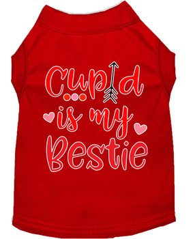 Cupid is my Bestie Screen Print Dog Shirt / Tank - 6 Colors