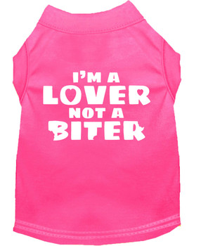 I'm a Lover Not a Biter Screen Print Dog Shirt / Tank - 13 Colors