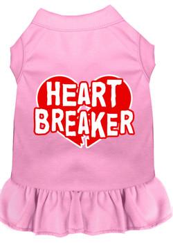 Heart Breaker Screen Print Dog Dress - 8 Colors