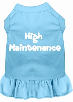 High Maintenance Screen Print Dog Dress -10 Colors