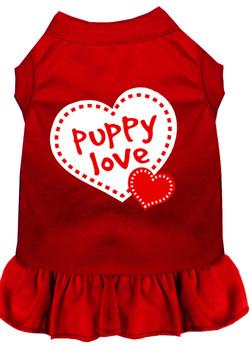 Puppy Love Screen Print Dog Dress -10 Colors