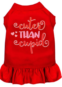 Cuter than Cupid Screen Print Dog Dress -10 Colors