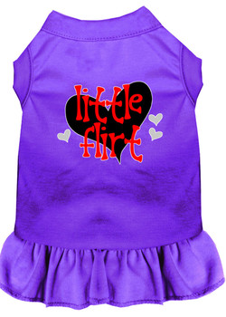 Little Flirt Screen Print Dog Dress -10 Colors
