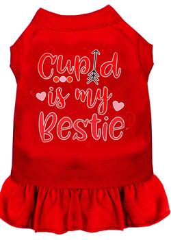 Cupid is my Bestie Screen Print Dog Dress -10 Colors