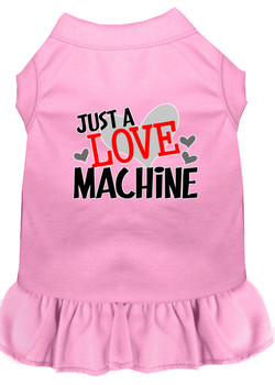 Just a Love Machine Screen Print Dog Dress -10 Colors
