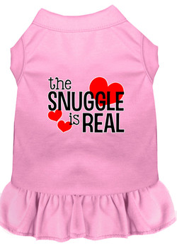 The Snuggle Is Real Screen Print Dog Dress -10 Colors