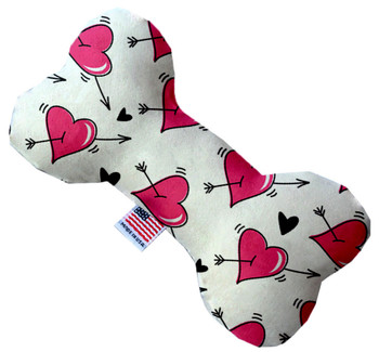 Bone Dog Toy -  Hearts and Arrows, 3 Sizes