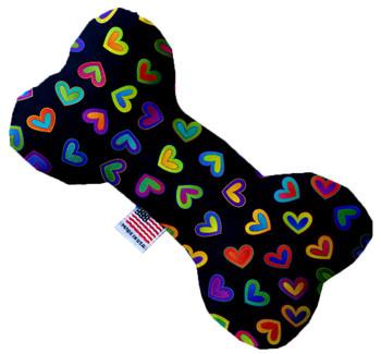 Bone Dog Toy - Bright Hearts, 3 Sizes