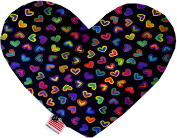 Heart Dog Toy - Bright Hearts, 2 Sizes