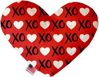 Heart Dog Toy - Red XOXO, 2 Sizes