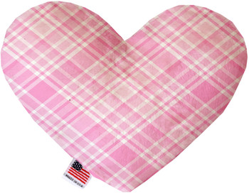 Heart Dog Toy - Cupid Pink Plaid, 2 Sizes