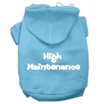 High Maintenance Screen Print Dog Hoodie - 9 Colors
