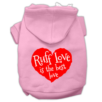 Ruff Love Screen Print Dog Hoodie - 9 Colors