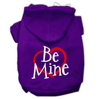 Be Mine Screen Print Dog Hoodie - 9 Colors