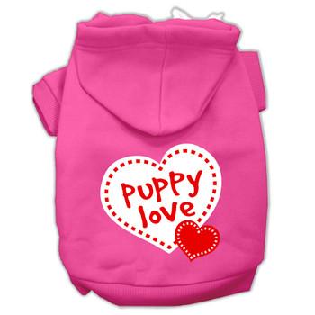 Puppy Love Screen Print Dog Hoodie - 9 Colors