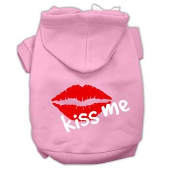 Kiss Me Screen Print Dog Hoodie - 9 Colors