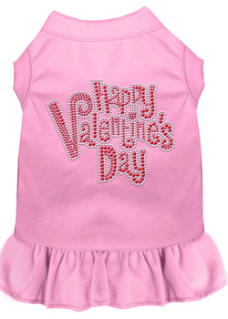 Happy Valentines Rhinestone Dog Dress - More Colors