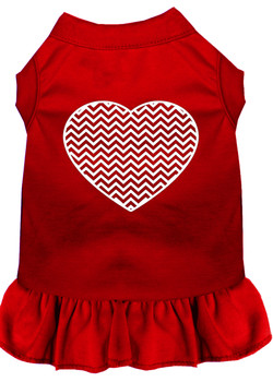 Chevron Heart Screen Print Dog Dress -More Colors
