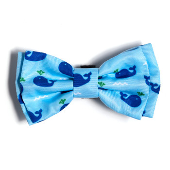 Squirt Whales Pet Dog Bow Tie