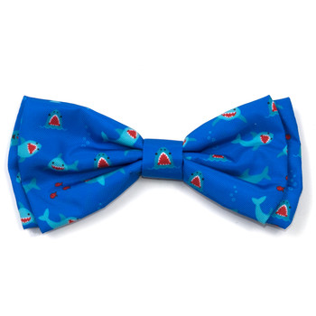 Chomp Shark Pet Dog Bow Tie