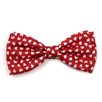 Hearts Pet Dog Bow Tie