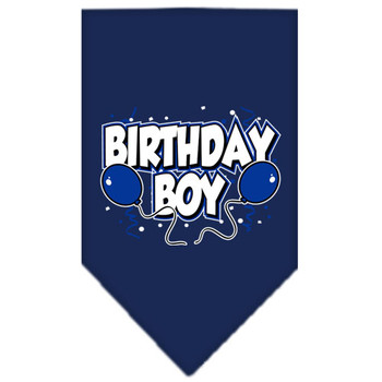 Birthday Boy Balloons Tie-on Pet Dog Bandana