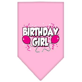 Birthday Girl Balloons Tie-on Pet Dog Bandana