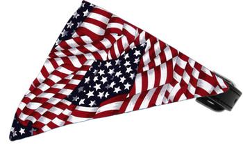 Patriotic American Flag Dog Collar Bandana