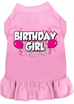 Birthday Girl Balloons Dog Dress - More Colors