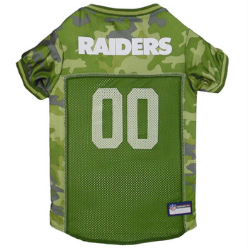 Oakland Raiders Pet Camo Jersey - XS