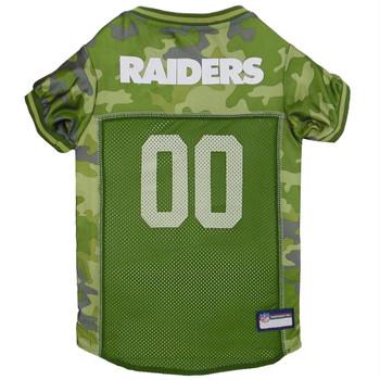 Oakland Raiders Pet Camo Jersey - Large