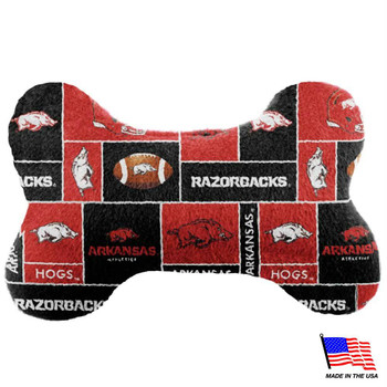 Arkansas Razorbacks Plush Bone Toy
