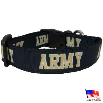 Army Black Knights Pet Collar
