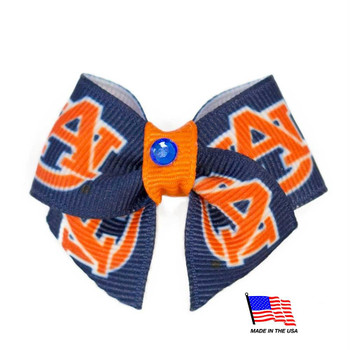 Auburn Tigers Pet Hair Bow