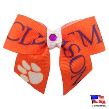 Clemson Tigers Pet Hair Bow