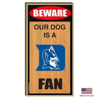 Duke Blue Devils Wood Sign