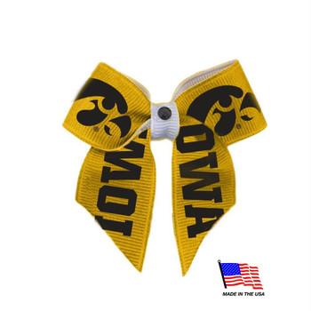 Iowa Hawkeyes Pet Hair Bow