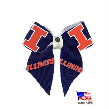 Illinois Fighting Illini Pet Hair Bow