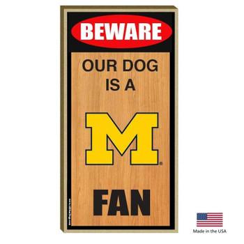 Michigan Wolverines Wood Sign