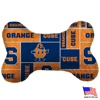Syracuse Orange Plush Bone Toy