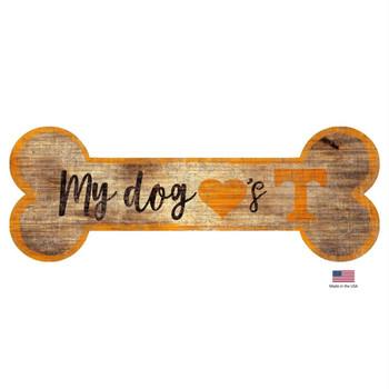 Tennessee Volunteers Distressed Dog Bone Wooden Sign