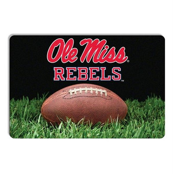 Ole Miss Rebels Classic Football Pet Bowl Mat