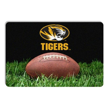 Missouri Tigers Classic Football Pet Bowl Mat