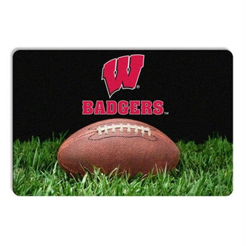 Wisconsin Badgers Classic Football Pet Bowl Mat