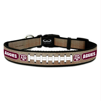 Texas A&M Aggies Reflective Football Pet Collar